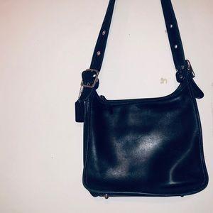 Vintage Leather Coach Purse (Black)